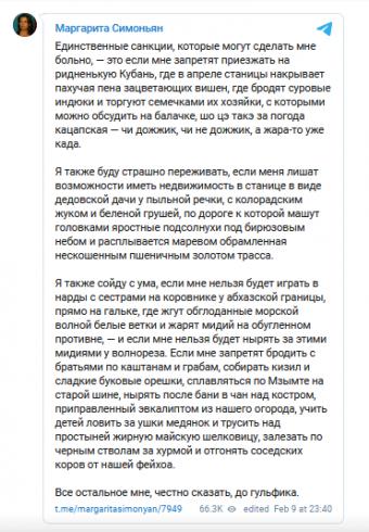 Симонян призывает закрыть зарубежные соцсети в России 3